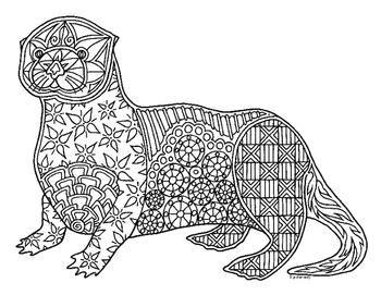 otter coloring page # 11