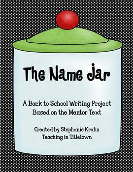The Name Jar book activity by Stephanie Krahn | Teachers ...