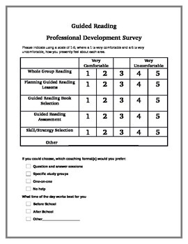 Guided Reading Survey by Growing Readers   Teachers Pay ...