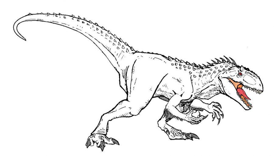 Jurassic World Coloring Page Ecoloringpage Com