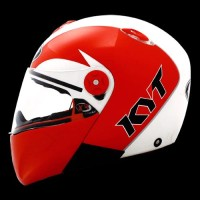 Jual helm kyt X Rocket Retro White Pearl Gold / Red Baru | Helm Full