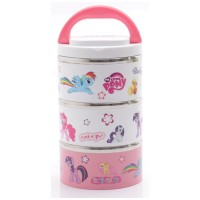 My Little Pony Rantang 3 Susun Stainless Steel Import