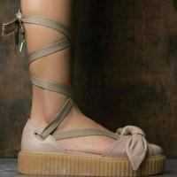 Puma X Fenty Rihanna Boe Creeper Bown Sandal Wanita Premiun 00e2746164