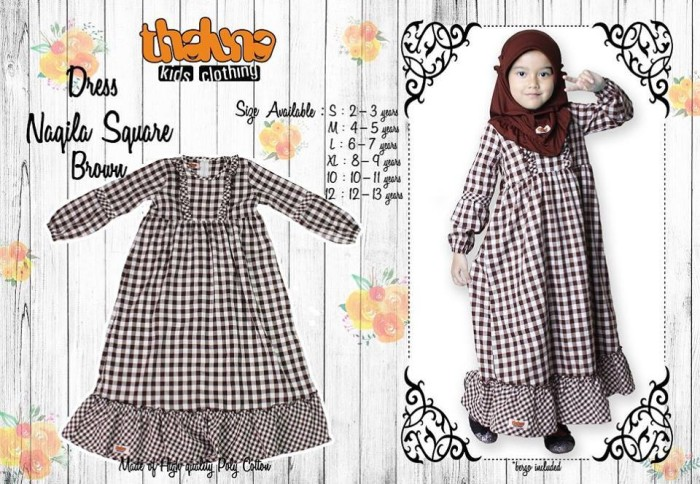 Dress Naqila Square Brown
