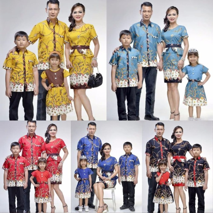 Model Baju Batik Gaun Couple 13