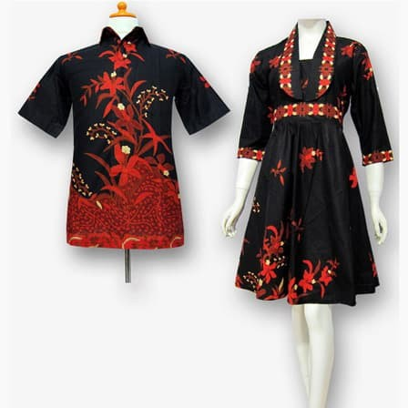 Model Baju Batik Gaun Couple 26