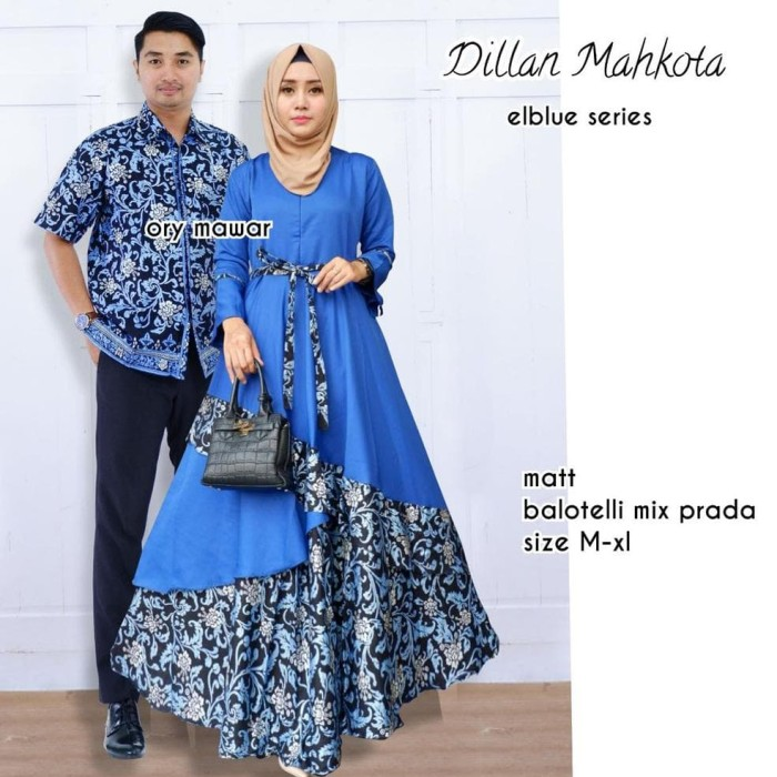 Model Baju Batik Gamis Couple 15