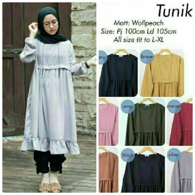 Model Baju Tunik Nissa Sabyan 13