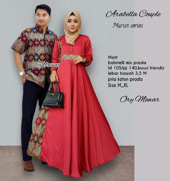 Model Baju Batik Gamis Couple 26