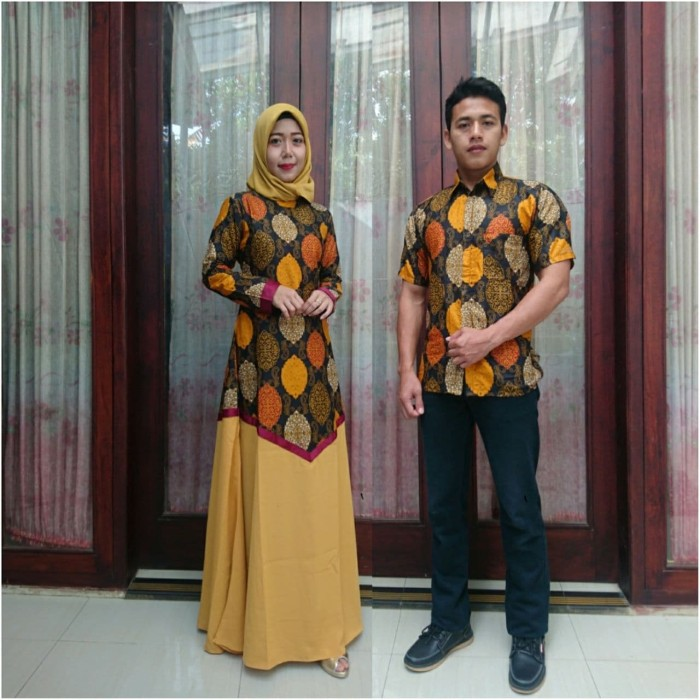 Model Baju Batik Couple Kombinasi Terbaru 8