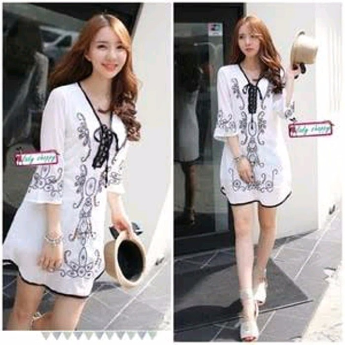 Model Baju Dress Pendek 29