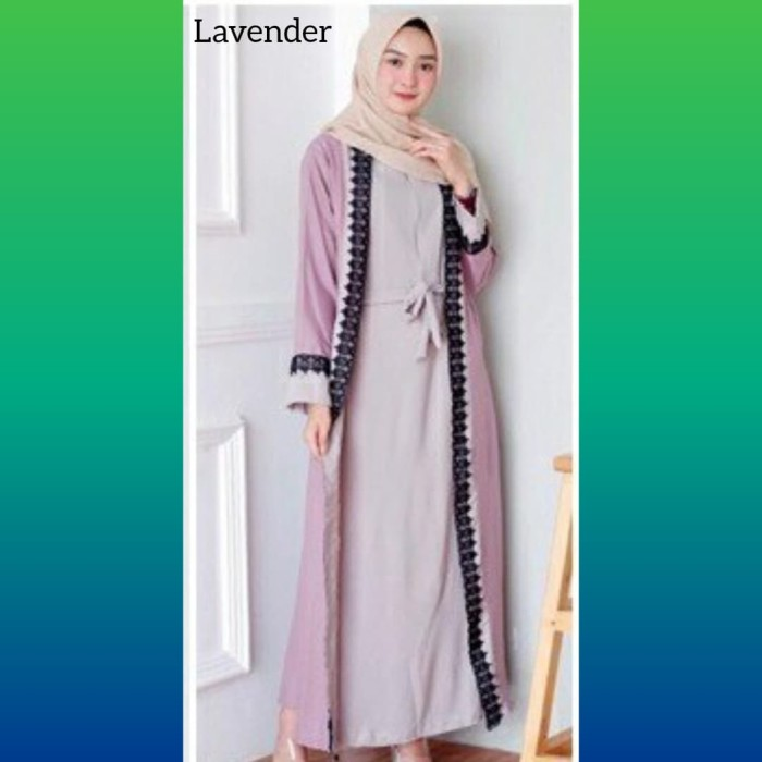 Model Baju Renda Abaya 4
