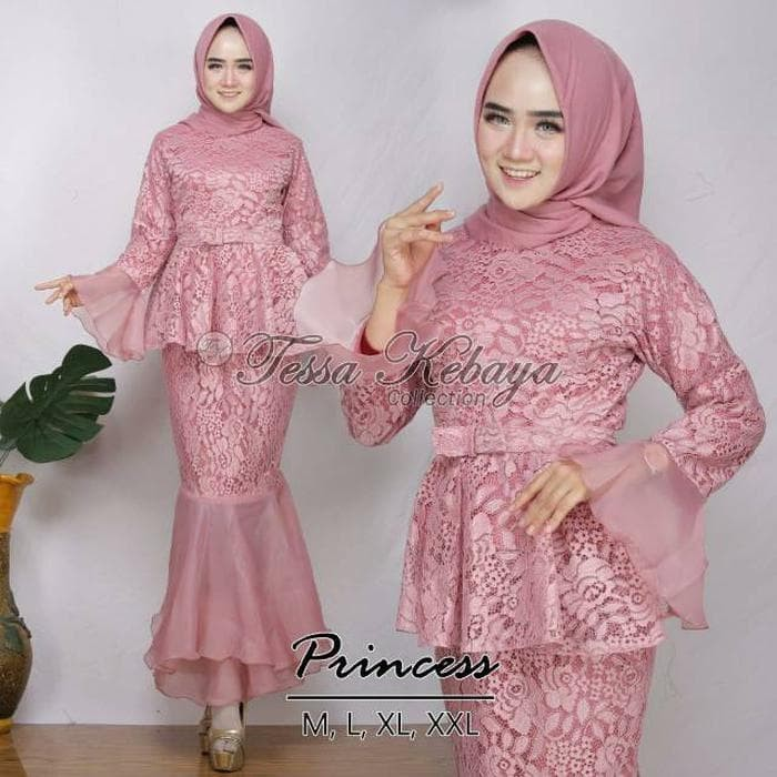 Model Baju Renda Warna Pink 28