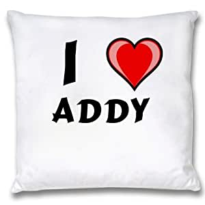 Amazon.com - White Cushion Cover with I Love Addy (first ...