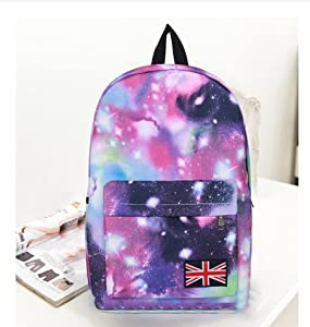 Fashion New The UK Flag Patterned Galaxy Backpack Unisex ...