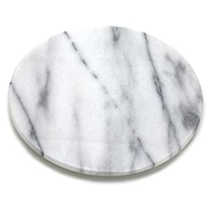 Amazon.com: Round White Marble Cheese and Pastry Board - 8 ...