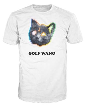 OFWGKTA Golf Wang Cat T-Shirt (White) (XXL): Amazon.co.uk ...