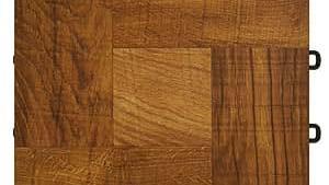 Basement Interlocking Laminate Tiles Red Wood 27 Sqft
