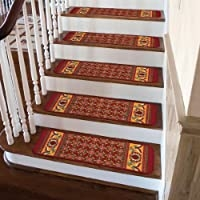 Stair Tread Rug   Oriental Rug Stair Treads   Flooring   Amazon   Non Slip   Bullnose Stair   Kings Court