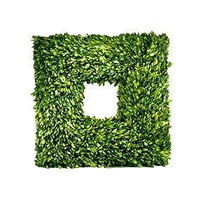 """Amazon.com - Flora Decor Preserved Boxwood Wreath Square 22"""""""