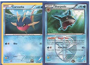 Amazon.com: Sharpedo & Carvanha - Rare Pokemon Card ...