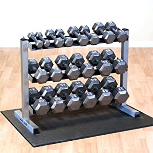 Amazon Com Body Solid Gdr363 Dumbbell Rack With Hex