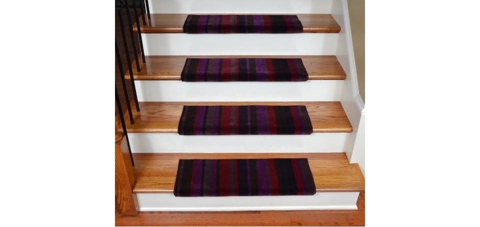 Dean Premium Bullnose Carpet Stair Treads Tuscan Stripe On Popscreen | Dean Premium Carpet Stair Treads | Bullnose Carpet | Stair Runners | Nylon Carpet | Diy Carpet | Hardwood Stairs