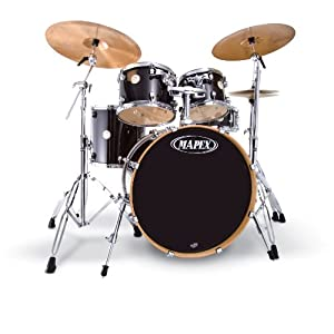 Buy Cheap Electronic Drum Kits   Digital Drum Set  Mapex Meridian     Mapex Meridian Standard 5 Drum Set  Transparent Midnight Black