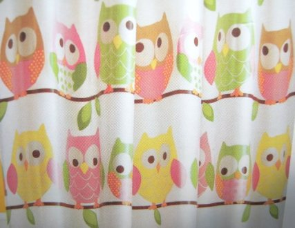 Circo Shower Curtain   Love   Nature Collection   Owls   Shower     video