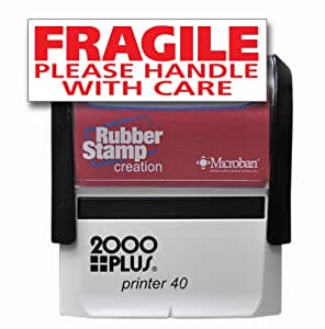 Amazon.com : FRAGILE PLEASE HANDLE WITH CARE Self Inking ...