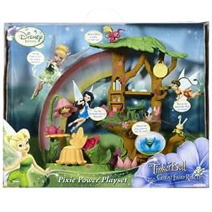 "Amazon.com: Disney Fairies 4.5"" Feature Playset -Pixie ..."