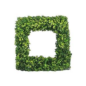Amazon.com - Boxwood Square Wreath - Artificial Outdoor ...