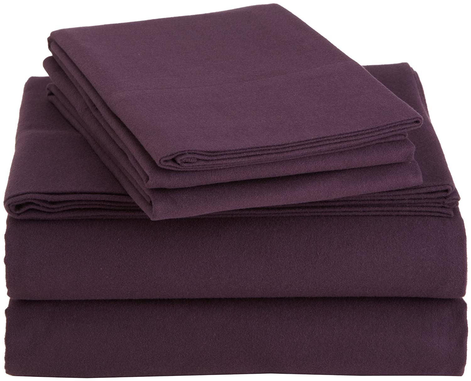 Queen Size Ultra-Soft Cotton Velvet Flannel Bed Sheets ...