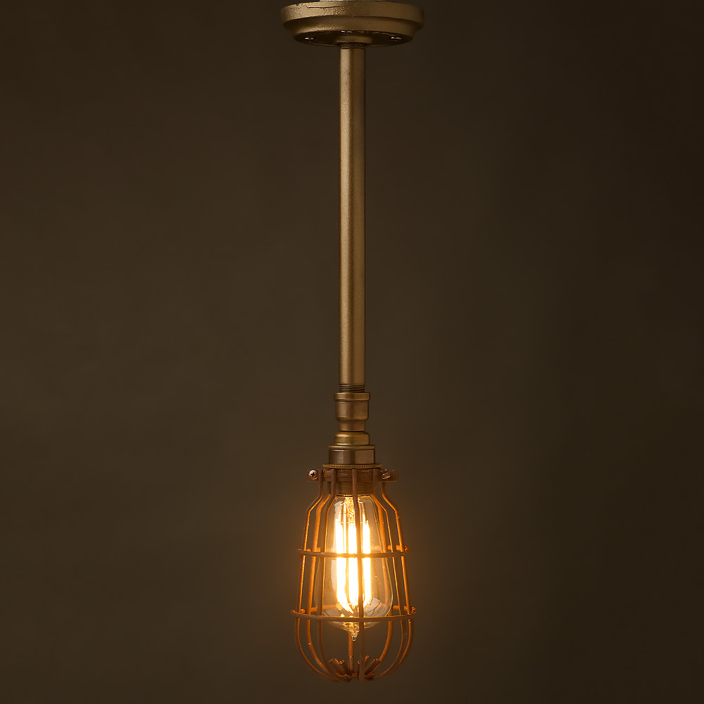 Bare Light Bulb Chandelier