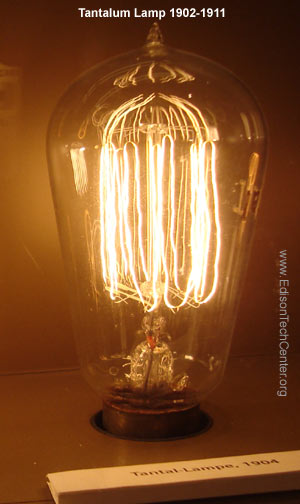 Metal Light Bulb Filaments