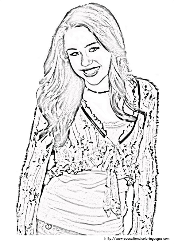hannah montana coloring pages # 4