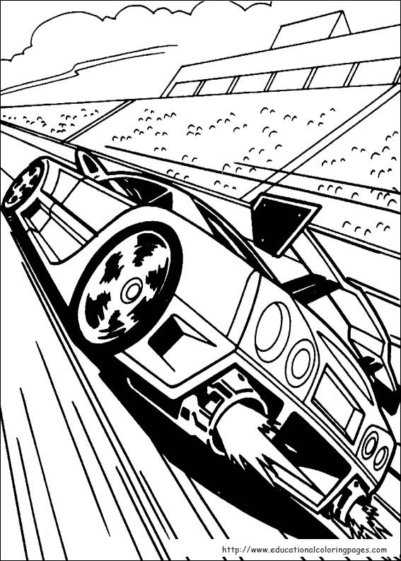 hot wheel coloring pages # 15