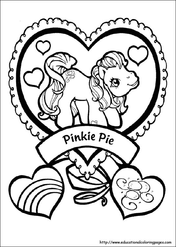 my little pony christmas coloring pages # 66