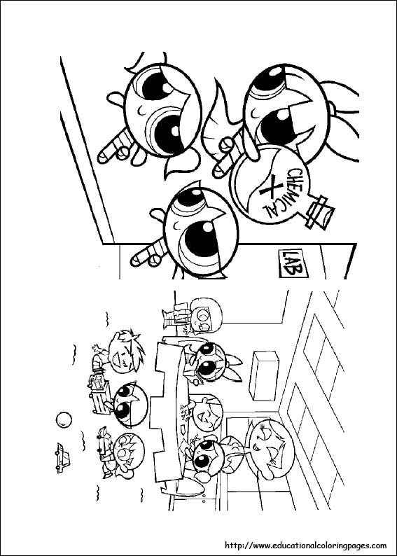 power puff girls coloring pages # 61