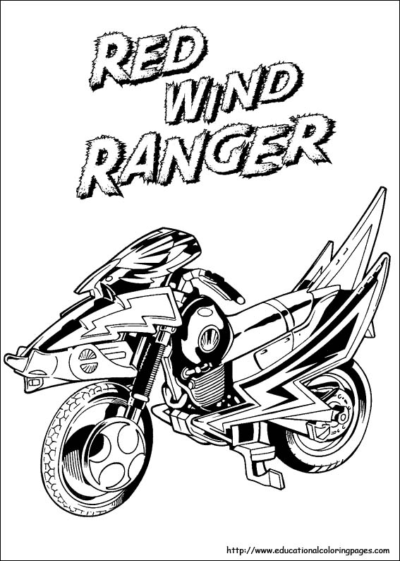power rangers coloring page # 49