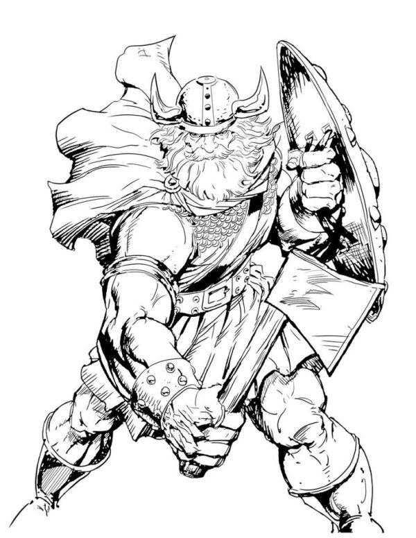 viking coloring pages # 52