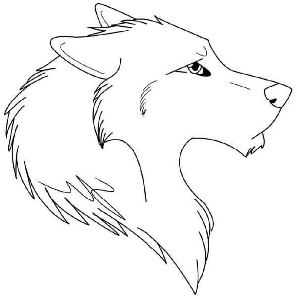 anime wolf coloring pages # 68