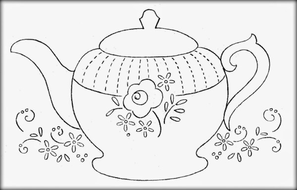 teapot coloring page # 25