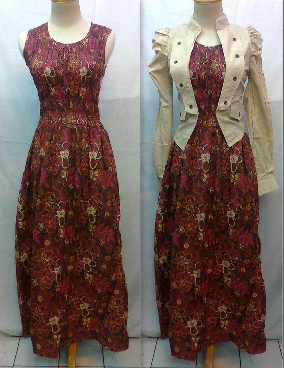 30 Model Gamis Rompi Batik Fashion Modern Dan Terbaru Pusat