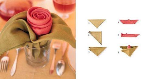 Διπλώστε τα φύλλα των τριαντάφυλλων από τη χαρτοπετσέτα