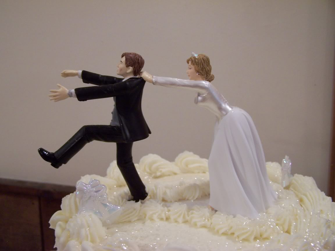 funny wedding cake topper remarkable and no running again funny     funny wedding cake topper remarkable and no running again funny wedding cake  toppers rwdreview com     Elaine s Idle Mind