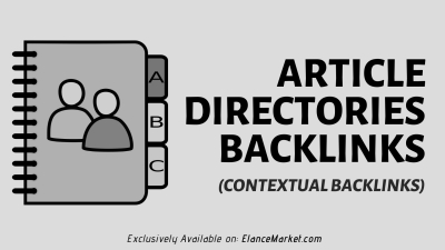 Buy Article Directories Backlinks (contextual backlinks)