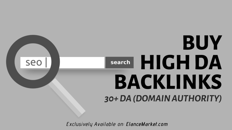 Buy High DA Backlinks · 30+ DA (Domain Authority)