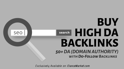 Buy High DA Backlinks · 50+ DA (Domain Authority) · Do-Follow Backlinks