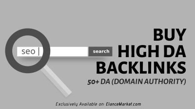Buy High DA Backlinks · 50+ DA (Domain Authority)